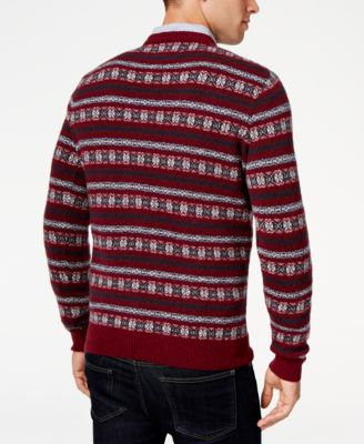 Barbour Mens Harvard Fair Isle Crew-Ne..