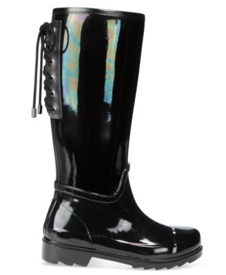 Nine West Oops Back Lace-Up Rain Boots