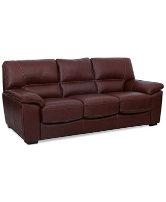 Bolivar Leather Queen Sleeper Sofa ly at Macy s Furniture Macy s