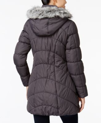 American Rag Faux-Fur-Trim Puffer Coat