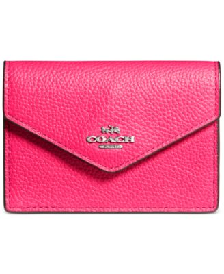 COACH Envelope Card Case in Pebble Leather