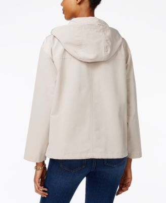 Charter Club Petite Hooded Utility Swing Jacket