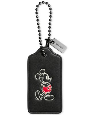 COACH Boxed Mickey Hangtag in Calf Leather