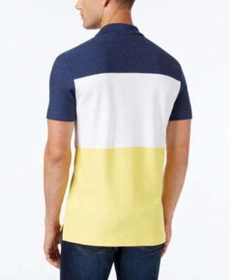 Lacoste Mens Colorblocked Textured Piq..