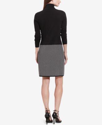 Lauren Ralph Lauren Chevron Sweater Dress
