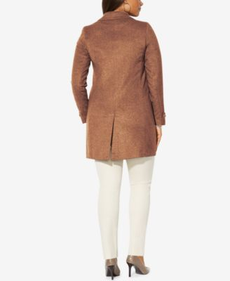 Lauren Ralph Lauren Plus Size Single-Breasted Wool Coat