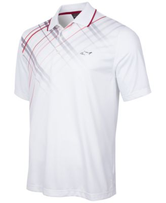 Greg Norman for Tasso Elba Plaid-Trimmed Golf Polo