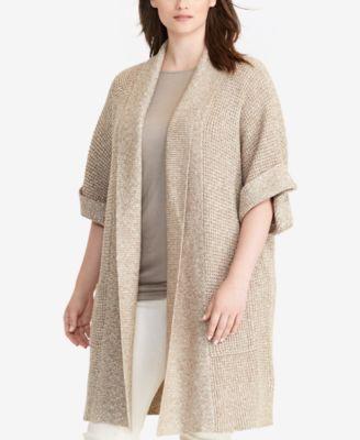 Lauren Ralph Lauren Plus Size Shawl-Collar Cardigan