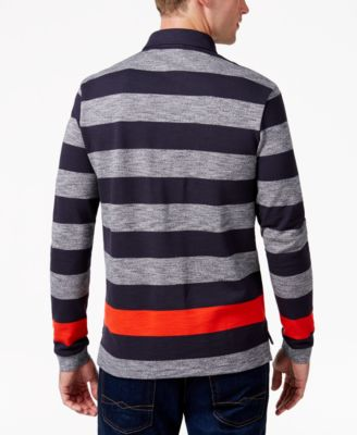 Lacoste Mens Engineered Striped Rugby ..