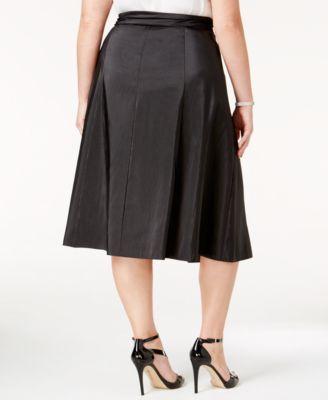 MSK Plus Size Taffeta A-Line Skirt