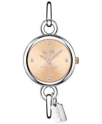 COACH Women's Hangtag Bangle Stainless Steel Bangle Bracelet Watch 28mm 14502688