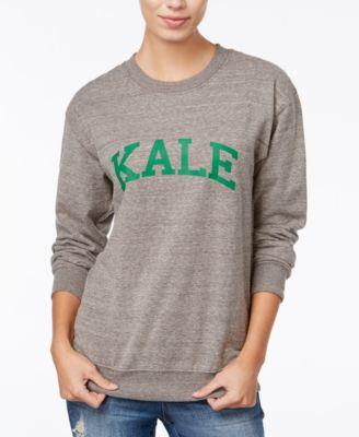 SUB_URBAN RIOT Sub Urban Riot Kale Graphic Sweatshirt in Navy/ White