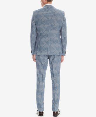 BOSS Mens Extra-Slim-Fit Virgin Wool S..