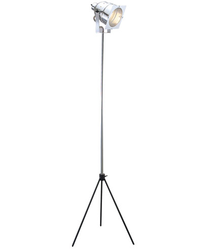 Adesso spotlight tripod floor lamp lighting lamps for the home macy 39 s - Tripod spotlight lamp ...