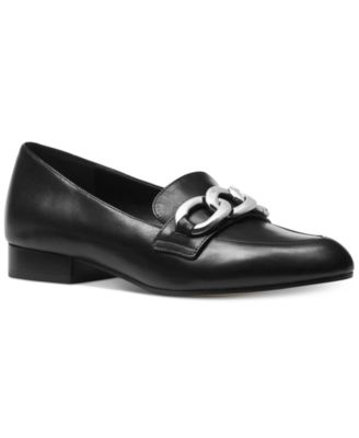 Chain Detail Loafers, Black