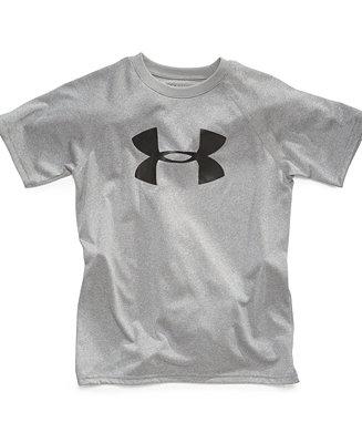 Under armour little boys 39 big logo tee shirts tees for Under armour shirts for kids