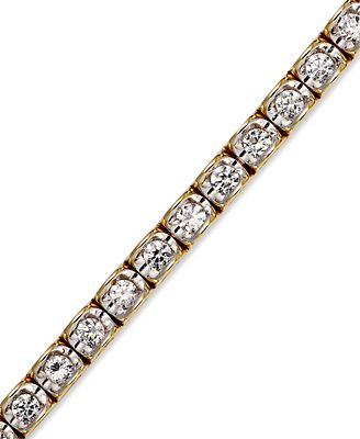 Diamond Bracelet In 14k Yellow Or White Gold 2 Ct T W Bracelets Jewelry Amp Watches Macy S