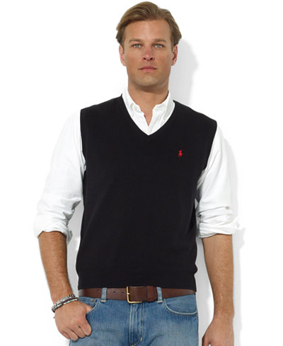Polo ralph lauren men 39 s sweater vest core solid sweater for Polo shirt with undershirt