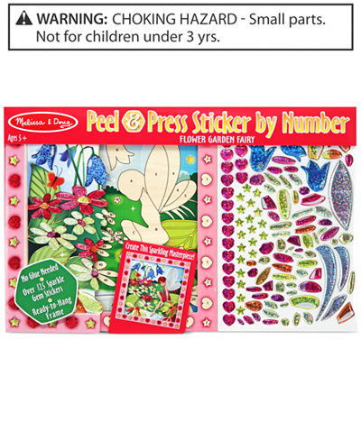 Melissa And Doug Kids Toy Peel Press Sticker By Number Flower Garden Fairy Set Toys Games