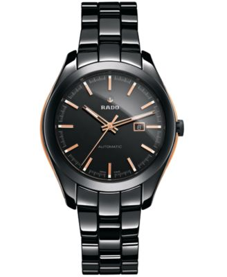 Rado Unisex Swiss Automatic HyperChrome Black High-Tech Ceramic Bracelet Watch 36mm R32255152