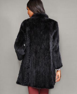 The Fur Vault Knitted Mink Fur Coat