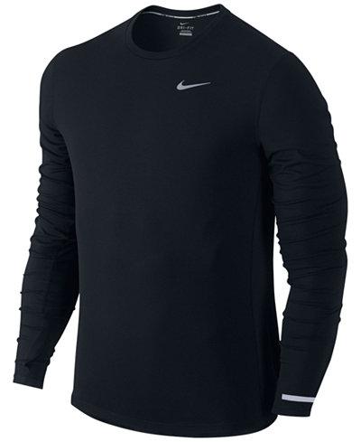 Nike Men 39 S Dri Fit Contour Long Sleeve Running Shirt T
