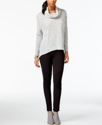 Bar III Cowl-Neck Knit Top