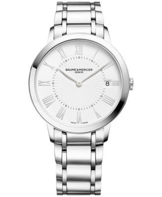 Baume & Mercier Womens Swiss Classima Stainless Steel Bracelet Watch 37mm M0A10261