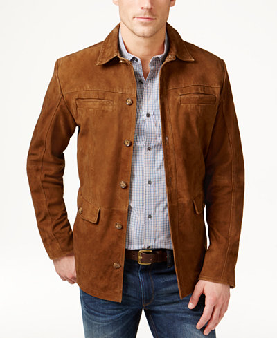 Tasso Elba Men S Suede Jacket Only At Macy S Coats
