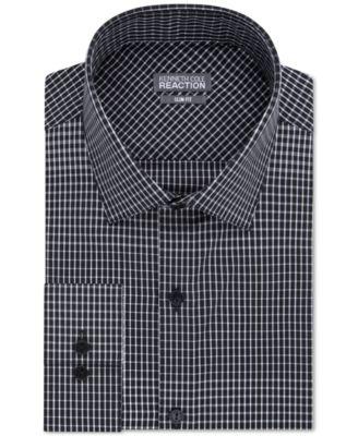 Black sateen dress shirt