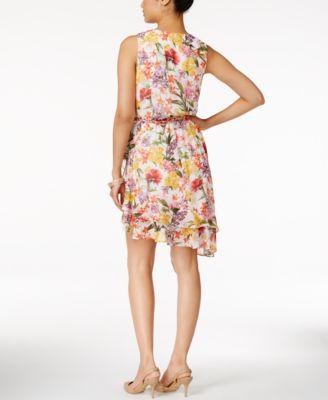 Thalia Sodi Floral-Print Ruffled A-Line Dress