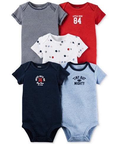 Carter's Baby Boys' 5-Pack Short-Sleeve Little All-Star ...