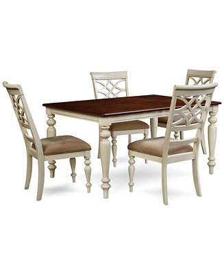 Windward 5 pc dining set dining table 4 side chairs for Macys dining table
