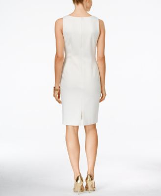 Ivanka Trump Studded Sheath Dress