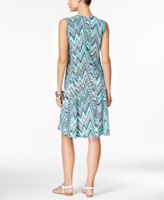 JM Collection Sleeveless Printed Dress