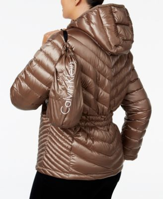 Calvin Klein Plus Size Packable Down Hooded Puffer Coat Image