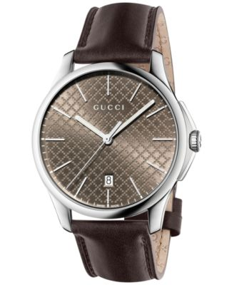 Gucci Womens Swiss G-Timeless Dark Bro..