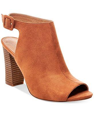 Madden Girl Beckkie Slingback Peep Toe Booties Boots