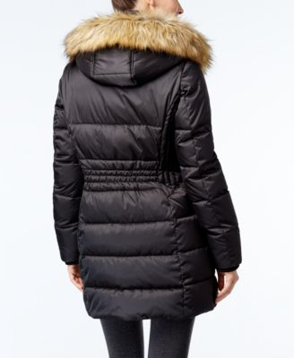 INC International Concepts Faux-Fur-Trim Puffer Coat