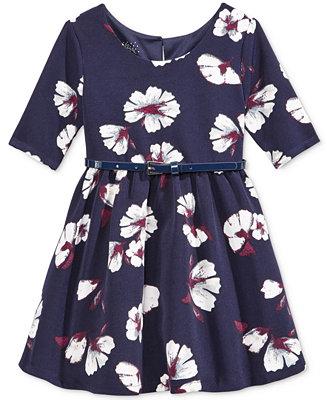 Marmellata Little Girls Floral Print Fit Amp Flare Dress