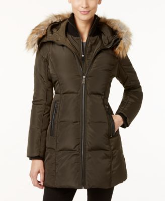 MICHAEL Michael Kors Faux-Fur-Trim Lay..