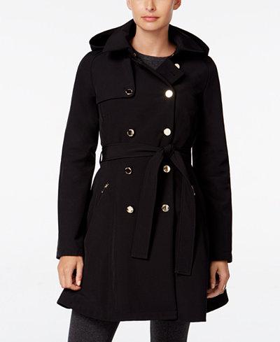 Ivanka Trump Hooded Skirted Trench Coat Coats Women