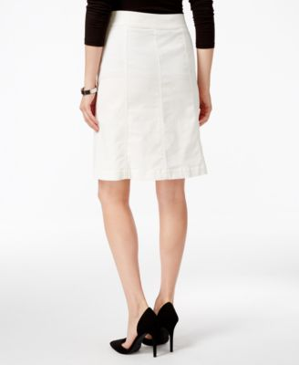 Charter Club Button-Front Corduroy Skirt