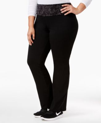 Style & Co. Plus Size Tummy-Control Yoga Pants, Only at Macy's