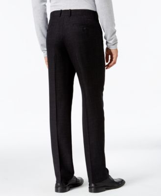 Alfani Collection Mens Classic-Fit Textured Crosshatch Flat-Front Pants