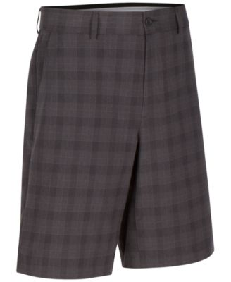 Greg Norman for Tasso Elba Mens Classic-Fit Plaid Performance Shorts