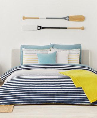 Lacoste Home Daunou Stripe Duvet Sets Duvet Covers Bed