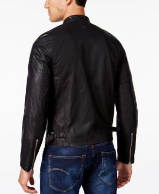 G-Star RAW Mens Faux-Leather Aviator J..