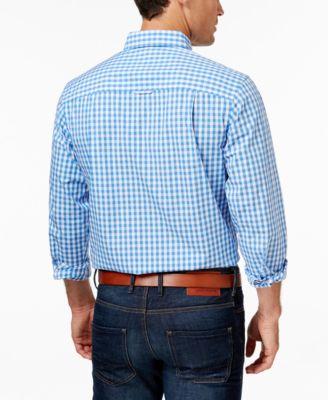 Club Room Mens Gingham Long-Sleeve Shirt