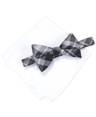 Alfani Mens Hudson Plaid Pre-Tied Bow ..